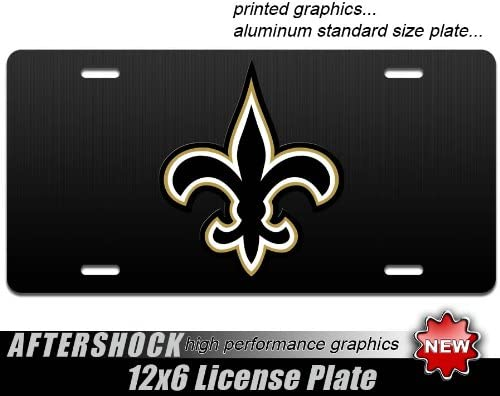 New American Flag Black And White Fleur de lis  Vanity License Plate