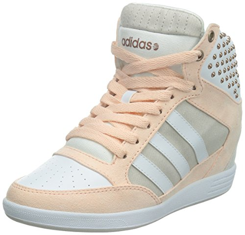 Adidas Women's SUPER WEDGE W Fashion Sneakers Pink US 6.5