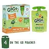 GoGo squeeZ Applesauce on the Go, Apple Mango, 3.2 Ounce (4 Pouches), Gluten Free, Vegan Friendly, Healthy Snacks, Unsweetened Applesauce, Recloseable, BPA Free Pouches