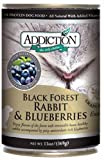 Addiction Black Forest Rabbit with Blueberries Grain-Free Canned Dog Food (24/13 Ounce Cans)