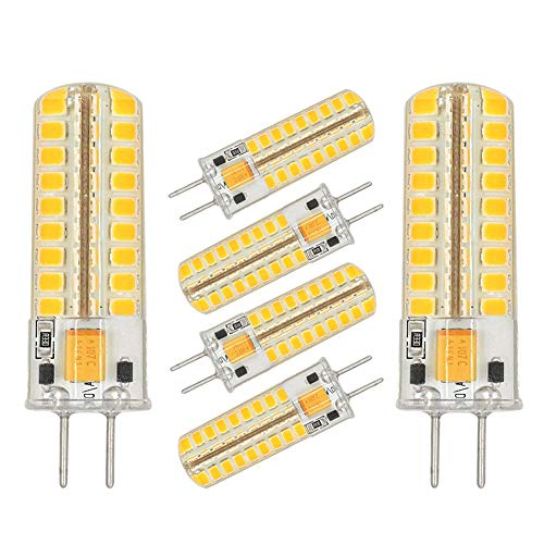 Replacement 50w Transformer - GY6.35 G6.35 LED Light Bulb Dimmable,GY6.35 Bi-pin Base 5W AC/DC 12V Warm White 2700K-3000K G6.35/GY6.35 Base T4 JC Type LED Halogen Incandescent 50W Replacement Bulbs(6-Pack)