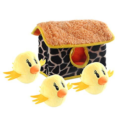 IFOYO Squeaky Dog Toys, Durable Chicken Hide and Seek Puzzle Plush Interactive Dog Toys for Medium/Small Dogs, Pets