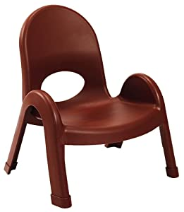 """Angeles Value Stack Kids Chair, Preschool/Homeschool/Daycare Furniture, Flexible Seating Classroom Furniture for Toddlers, Cocoa, 7"""""""