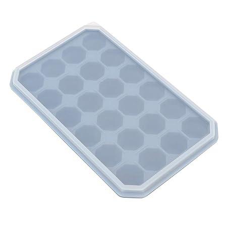 24 rejillas bricolaje bandeja de hielo de silicona congelar pudín ...