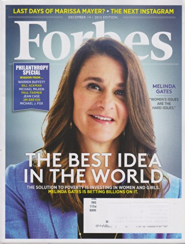 Forbes December 14, 2015 Melinda Gates The Best Idea in the World