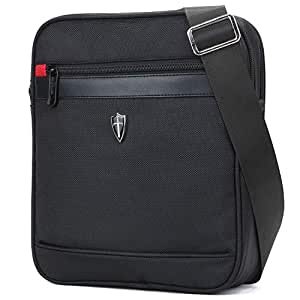 """WANDF Victoriatourist Shoulder Messenger Bag for iPad/Tablet Upto 10.1"""" (10.1"""", Black)"""