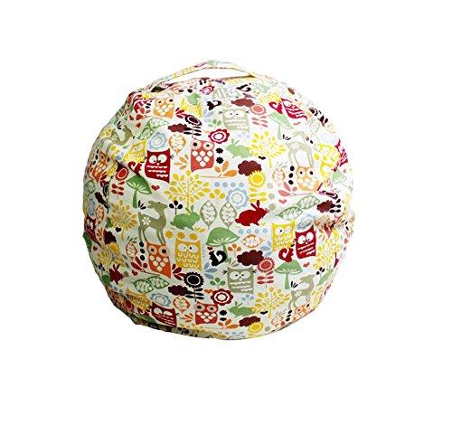 Kids Bean Bag | Stuffed Animal Storage | Cartoon Bean Bag Chair | Extra Large Stuffed Storage Bag | Plush Toy Organizer | Perfect Storage Solutions | Creative Gift for Christmas (Owl, 27