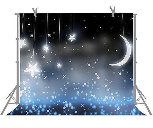 FUERMOR Moon Stars Photography Backdrop Baby Children Photo Props 7x5ft Background G785