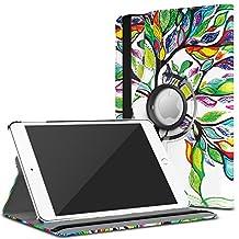 MoKo iPad Mini 4 Case - 360 Degree Rotating Cover Case With Auto Wake / Sleep for Apple iPad Mini 4 (2015 edition) 7.9 inch iOS Tablet, Lucky TREE