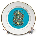 3dRose Ninhol – Science - Girls Playing with Planets - 8 inch Porcelain Plate (cp_291332_1)