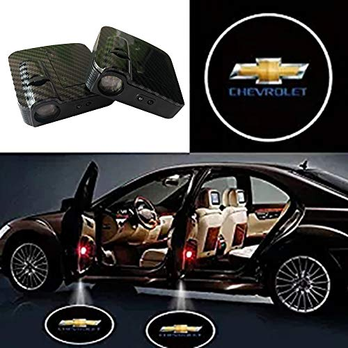 SOONDAR Car Door Lights for Chevrolet Upgraded Universal Senseor Car Door Led Logo Projector Light (2PCS)