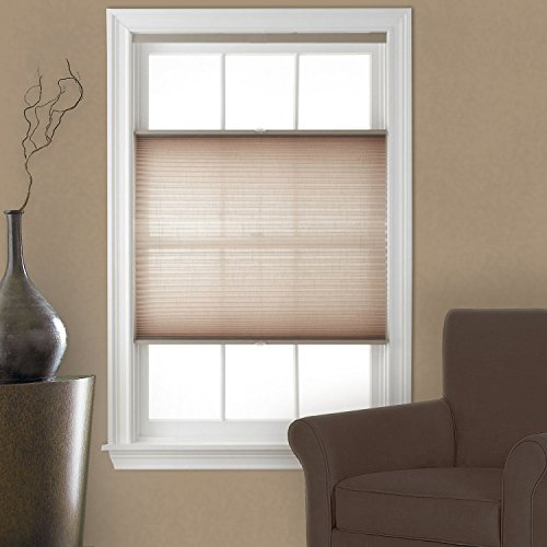 Top Down Bottom Up Cordless Pleated Shade Camel 29×64