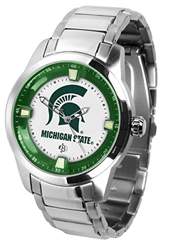 Michigan State Spartans MEN'S Titan Steel Watch