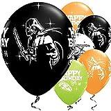 Lotto 25palloncini Star Wars Yoda Dart Fener Qualità Qualatex 28cm Happy Birthday Buon Compleanno
