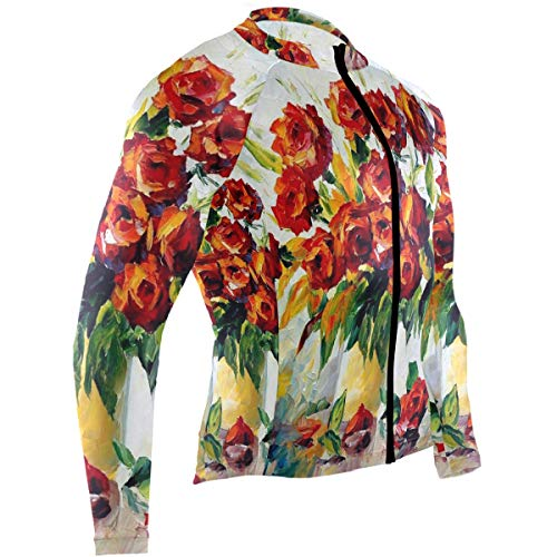 Leonid Afremov Oil Canvas Palette Knife Mens Cycling Jersey Top Full Sleeve Road Cycle Wear Outfit