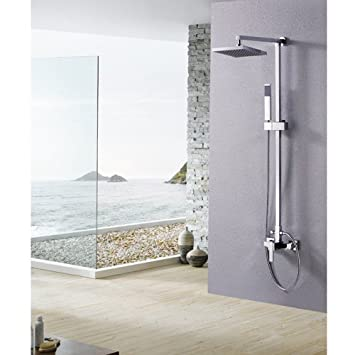 Lightinthebox Single Handle Wall Mount Rainfall Shower Faucet Set