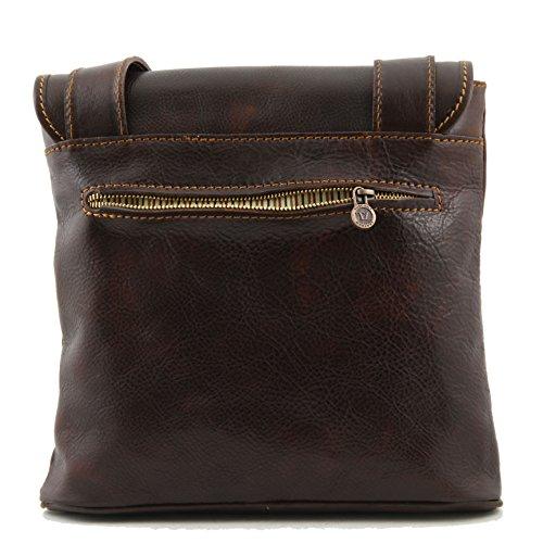 890874 - TUSCANY LEATHER: ANDREA - Sac bandoulière en cuir pour femmes, marron foncé