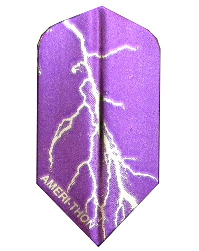 3 Sets #3463 AmeriThon Purple/Silver Lightning Bolts Dart Flights