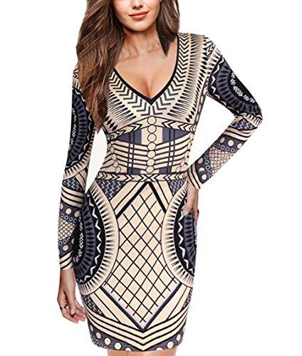 celebritystyle-exzotic-geometric-print-v-neck-bodycon-dress-usa-seller-s-beige-black