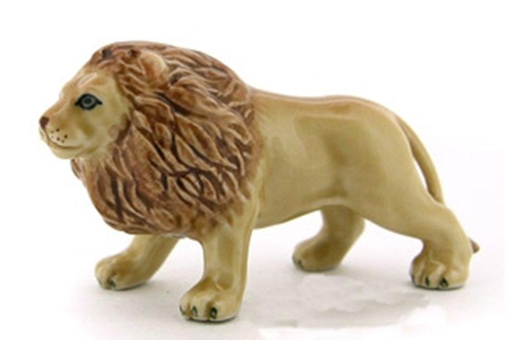 Dollhouse Miniatures Ceramic Lion FIGURINE Animals Decor