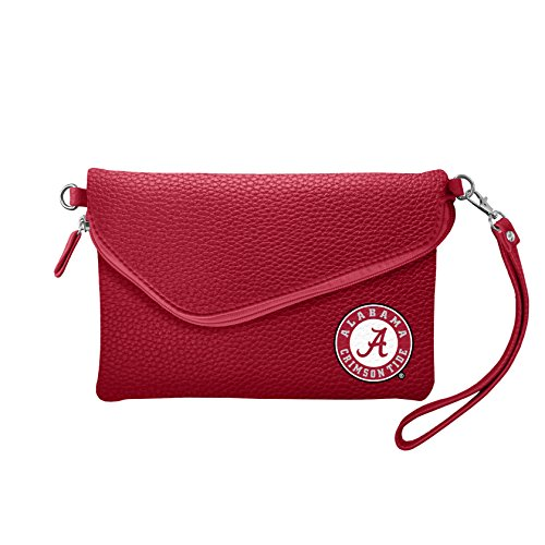 NCAA Alabama Crimson Tide Pebble Fold Over Crossbody Purse