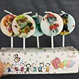 Partysanthe Kid's P/A/W Printed Cake Toppers (Multicolour) - Set of 5
