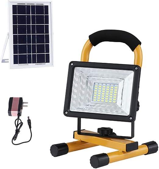 LED Foco Recargable 50W, LED Proyector de Construcción, Foco Solar ...