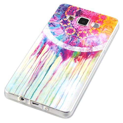 Carcasa Samsung Galaxy A5 con diseño de protección de silicona colourido mandala acuarelables