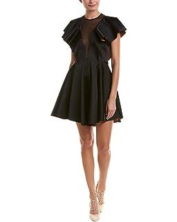 0ad0426537f Sandro Womens Ruffled Sleeve Cocktail Dress