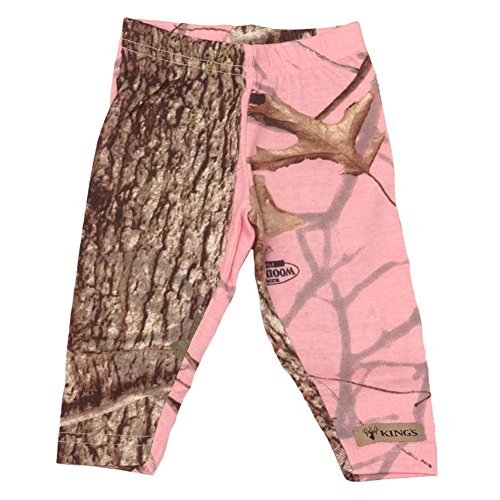 Kings Camo - Infant Toddler Leggings - Woodland Pink (Infant Woodland Camo)