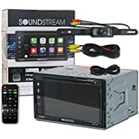 Soundstream VRCP-65 Double DIN 2-DIN 6.2 Apple CarPlay DVD MP3 CD receiver Bluetooth SiriusXM-Ready + Remote and DCO Back-up Camera Night Vision Wide Angle View (Optional Camera)