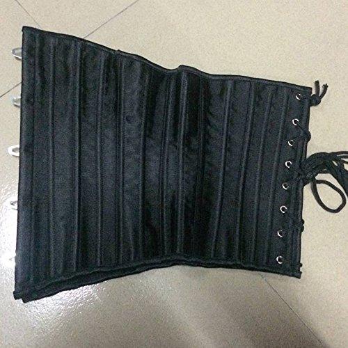 Kiwi-rata mujer Underbust corsé y bustiers reductora transpirable cintura formación Cincher Negro #1