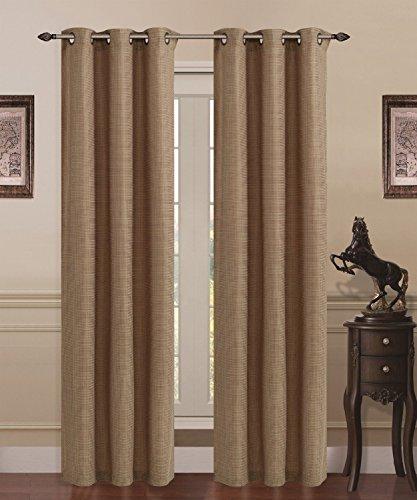 Union Square Furniture - Solid Union Square Heavy Linen Panel Grommet Curtain Set 80
