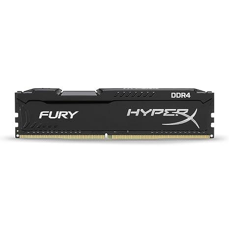 HyperX Fury HX421C14FB/4 - Memoria RAM, 4 GB 2133MHz DDR4 Non-ECC CL14 DIMM (Compatible con Skylake)
