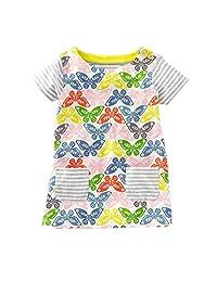 Zhengpin Summer New European Style Girls Dresses Cartoon Cotton Princess Skirt