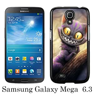 Samsung Galaxy Mega 6.3 I9200 Case ,Hot Sale And Popular Designed Samsung Galaxy Mega 6.3 I9200 Case With Alice in Wonderland Cheshire Cat Black Hight Quality Cover