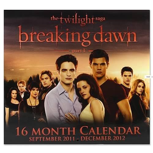"NECA The Twilight Saga ""Breaking Dawn"" 16 Month Calendar 2012"