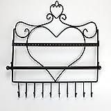 HUJI Heart Themed Sturdy Steel Wall Mount Jewelry