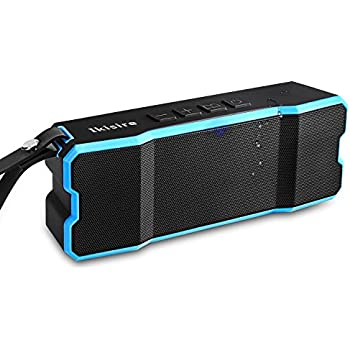 portable outdoor speakers. portable ipx6 waterproof bluetooth speakers 4.1 with 12-hour playtime, deep bass and loud outdoor l