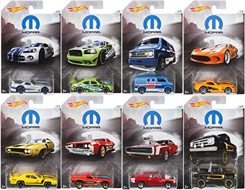 AYB Mopar 2018 Exclusive Hot Wheels Collection Dodge Viper / Charger Drift / Plymouth Road Runner / Dixie Challenger / Van / Power Wagon Pickup Truck Motor Parts Series Bundle