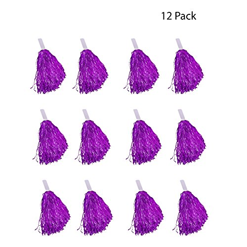 (Windy City Novelties Cheerleader Pom Poms - 12 Pack (Purple))
