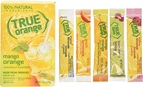 True Mango Orange Drink Mix, 10-count (Pack of 4) with 5 FREE Lemonade Sample Sticks