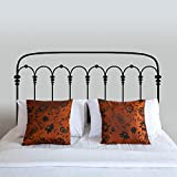 Wall Decal Vinyl Art Stickers - Metal Bed Frame Bedpost with Four Sizes of your choice (Black, Queen)