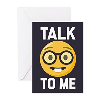 Amazon Cafepress Talk Nerdy To Me Greeting Card Note Card