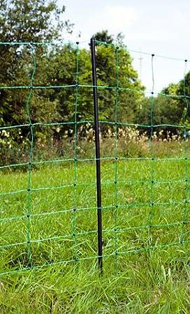 Filet de clôture / clôture électrique mobile - Avec 14 poteaux ...