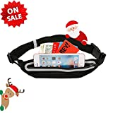 Small Sport Waist Bag, Polyester Lycra Fanny Pack, Outdoor Durable Water-resistant Waist Bag with Adjustable Strap, Hip Pack Bum Bag for Women and Men for Hiking Running Cycling Climbing , Black For Sale
