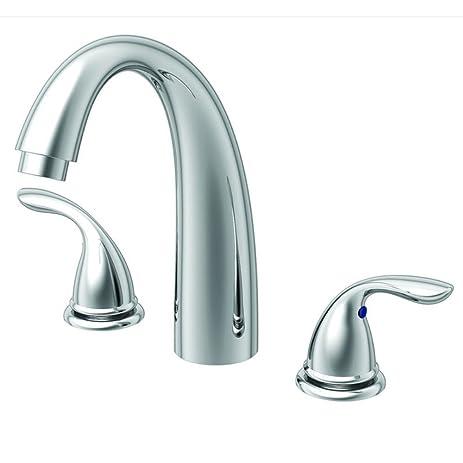 Aqueous Faucet Racine Single Handle Desk Mount Roman Tub Faucet ...