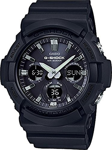 Casio GAS100B-1A G-Shock Tough Solar Men's Watch Black 55.1mm Resin/Aluminum ()