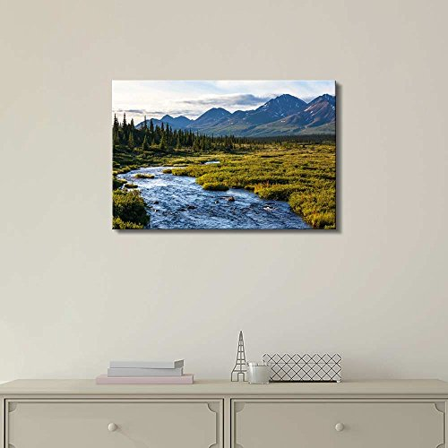 River in Tundra on Alaska Home Deoration Wall Decor ing