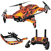 MightySkins Skin for DJI Mavic Air Drone - Hot Flames | Max Combo Protective, Durable, and Unique Vinyl Decal wrap cover | Easy To Apply, Remove, and Change Styles | Made in the USA